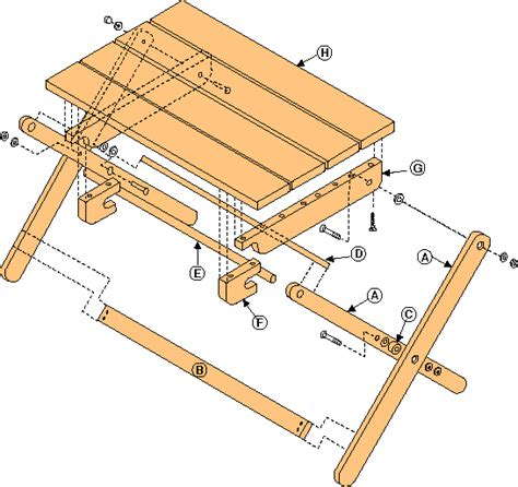 folding tv table plans   find wood