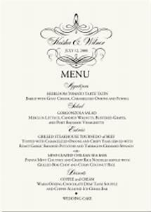 wedding menu cards dinner party menus custom designs With fancy dinner menu template