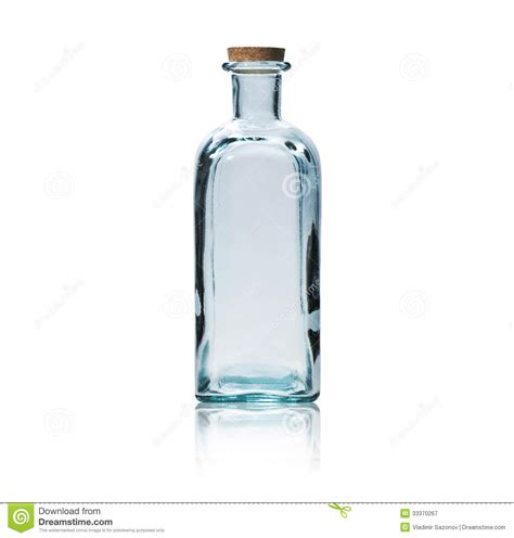 le avec bouteille en verre bouteille en verre vide avec le bouchon de li 232 ge photographie stock libre de droits image