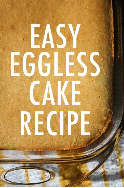 easy eggless vanilla cake recipe