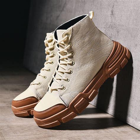 Men Ankle Boots Autumn Winter Fashion Male High Cut