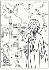 Vampire Colouring sketch template