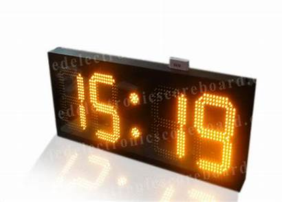 Countdown Clock Outdoor Timer Led Amber Electronic