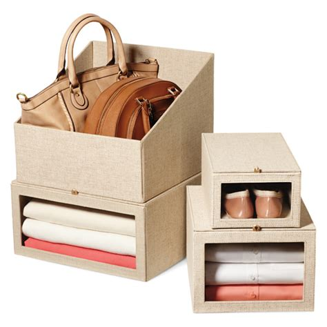 linen handbag storage bin the container store