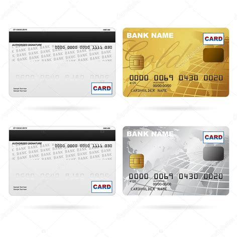 front    credit cards stock vector  vectomart