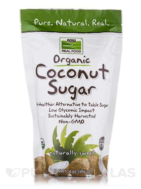 now real food 174 organic coconut sugar non gmo oz