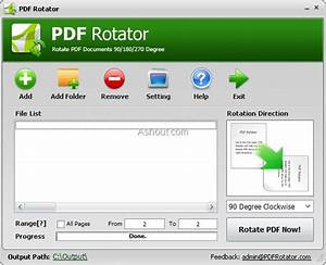 Pdf rotator rotate single page all pages or at specified for Pdf document rotate and save