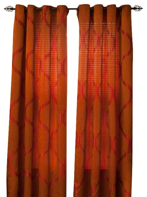 rust colored curtains rust color tier kitchen curtain
