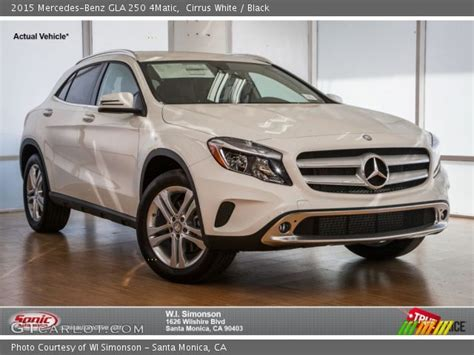 See its design, performance and technology features, as well as models, pricing, photos and more. Cirrus White - 2015 Mercedes-Benz GLA 250 4Matic - Black Interior | GTCarLot.com - Vehicle ...