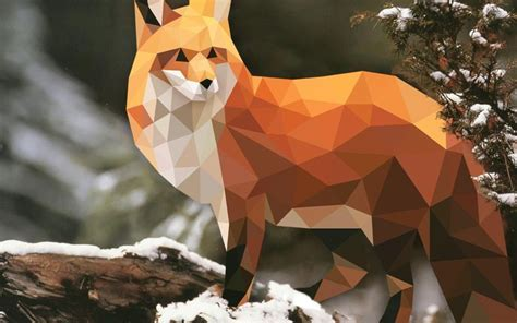 wallpaper fox low poly 3d by reddit user friendhsip low poly love pinterest Wallp