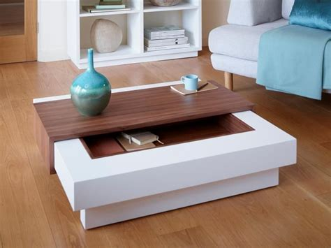 Contemporary Coffee Tables by Contemporary Coffee Table With Storage In Matt Or