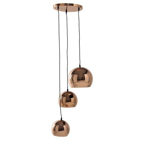 suspension chambre bébé fille suspension 3 abat jour en métal cuivré d 36 cm chloé