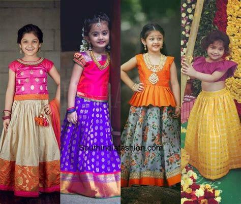kids pattu pavadai designs south india fashion