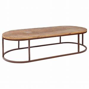 Tilton rustic lodge reclaimed wood iron oval coffee table for Oval reclaimed wood coffee table