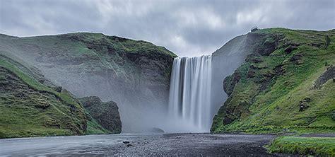 mountain waterfall background  mountain waterfall