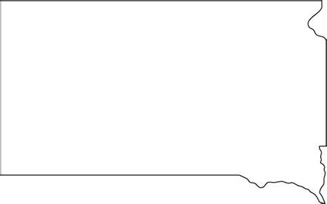 South Dakota Outline Map
