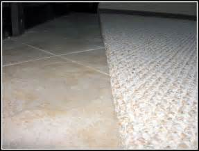 carpet to tile transition strip on concrete carpet