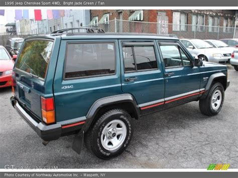 jeep cherokee sport green 1996 jeep cherokee sport 4wd in bright jade green photo no