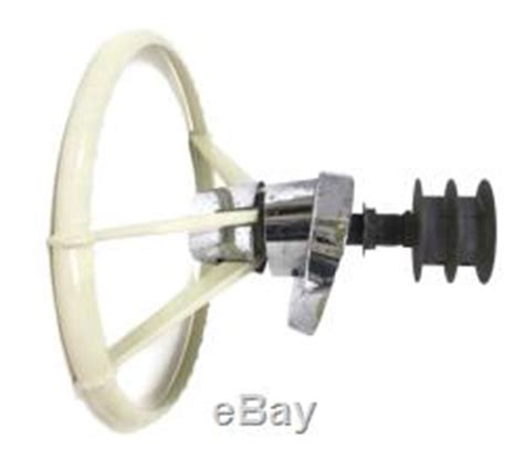 Marine Steering Wheel Bezel by Vintage Boat Steering Wheel Nautalloy Airtek Chrome Bezel