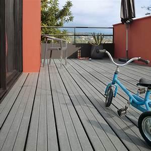 Lame Composite Pour Terrasse Leroy Merlin : pose d 39 une terrasse en bois ou composite de 15 m leroy ~ Zukunftsfamilie.com Idées de Décoration
