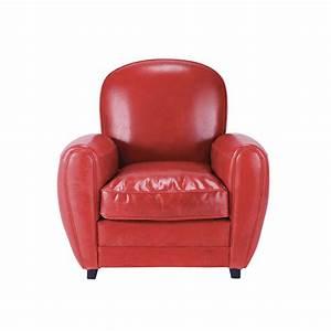 Fauteuil Maison Du Monde : fauteuil cuir rouge vintage oxford maisons du monde ~ Teatrodelosmanantiales.com Idées de Décoration