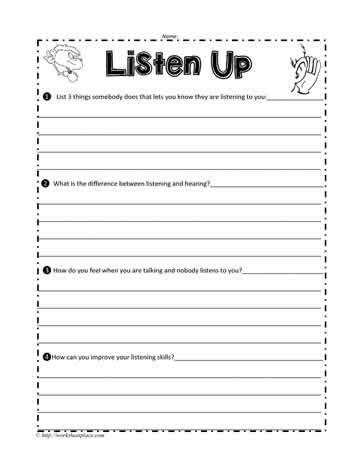 Listening Worksheets Rcnschool