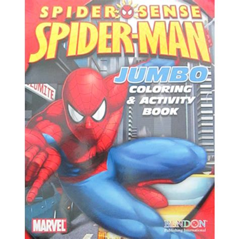 spider man spider sense giant coloring  activity book ct