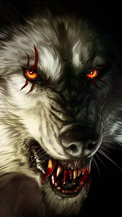 Wolf Anime Fantasy Scary Bloody Blood Werewolf