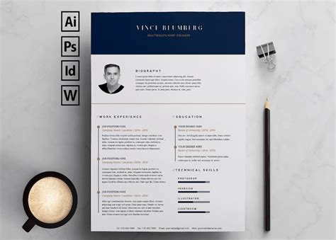 Cv Template Design Free by 65 Eye Catching Cv Templates For Ms Word Free To