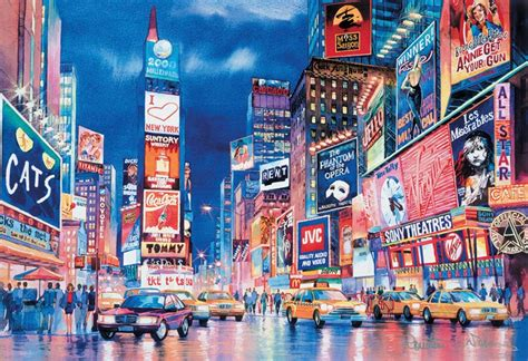new york lights glow in the puzzle puzzlewarehouse
