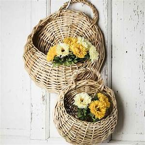 Wall wicker baskets what s new home decor