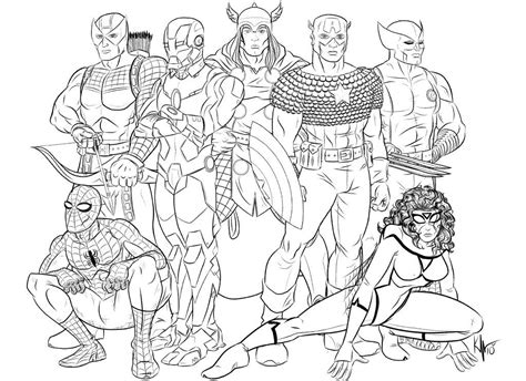 marvel heroes coloring pages az coloring pages