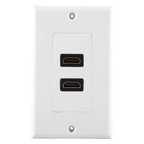 buy dual port hdmi wall face plate outlet socket panel media audio video hdtv p  cheap