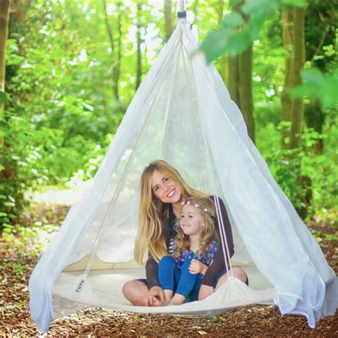 Suspended Hammock Bed by Tiipii Hanging Bed Hammock 1 8m White