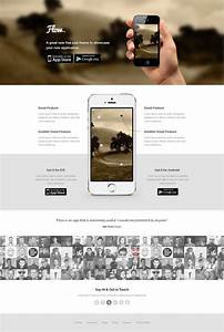 35 best free landing page psd templates designmaz With landing page with video template