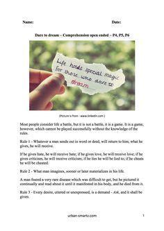Comprehension (new Syllabus)  P5 & P6  English Worksheets  Pinterest Worksheets