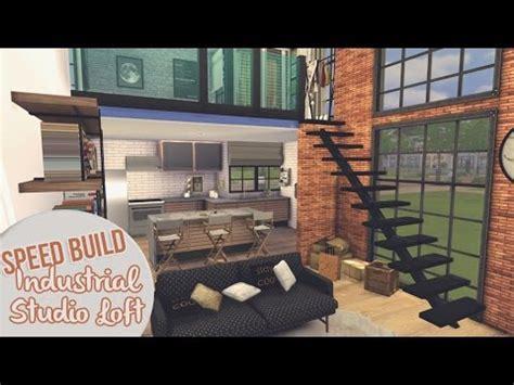 industrial studio loft  sims  speed build youtube