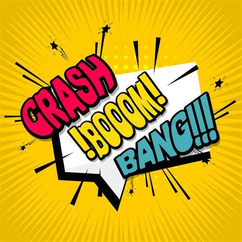Comic Text Background Crash Boom Bang Stock Vector