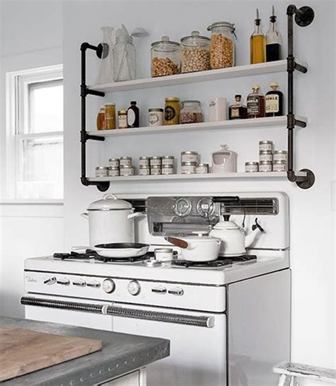 pipe shelves kitchen 40 mechanical plumbing pipe furniture ideas