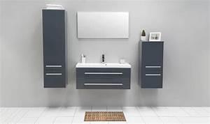 meuble suspendre gris de salle bain avec vasque 100 cm With meuble à suspendre salle de bain