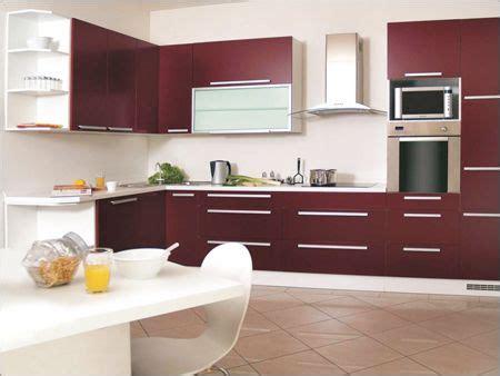 #wine Coloured #modular #kitchen  Galley Kitchen Ideas