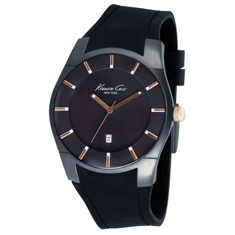 kenneth cole watch kc1621 mens black silicon buy kenneth