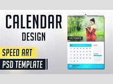 Calendar 2019 Photoshop Speed Art Monthly Calendar