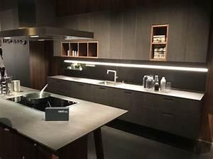 ten, un, moderno, mueble, de, cocina, en, color, gris