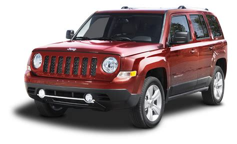 Jeep Car : Red Jeep Patriot Suv Car Png Image