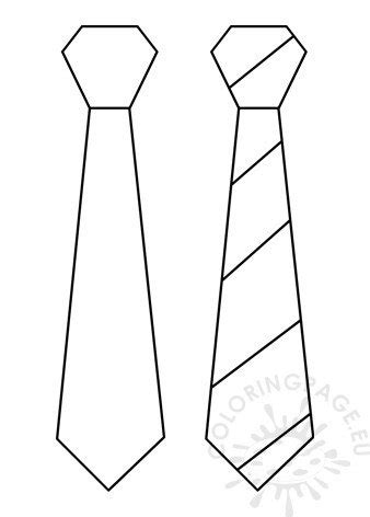 tie template  printable coloring page