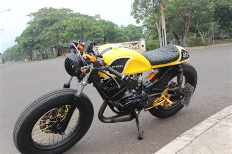 Rx King Warna Kuning by Koleksi Modifikasi Motor Rx King Cafe Racer Terbaru Dan