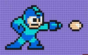 Megaman 8 Bit Sprite Grid | www.pixshark.com - Images ...