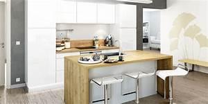 L39implantation de cuisine avec ilot central you for Petite cuisine équipée avec meuble buffet salle à manger