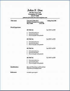 Simple Resume For Job Simple Job Resume | Best ...